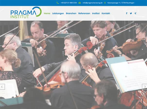 Pragma Institut Referenz WordPress Webdesign