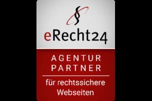 Milena Paralis, Partner Agentur für rechtsichere Webseiten, eRecht24 Logo