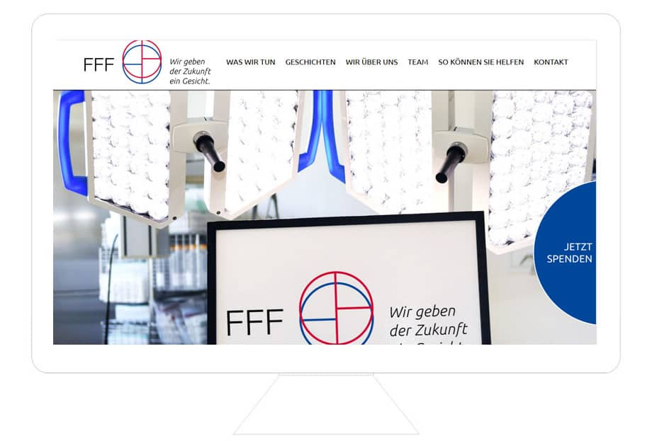FFF e.V. Referenz Desktop, WordPress Webdesign