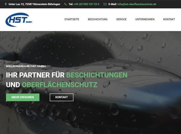 HST GmbH Referenz, HTML Website erstellen lassen, Schwäbische Alb