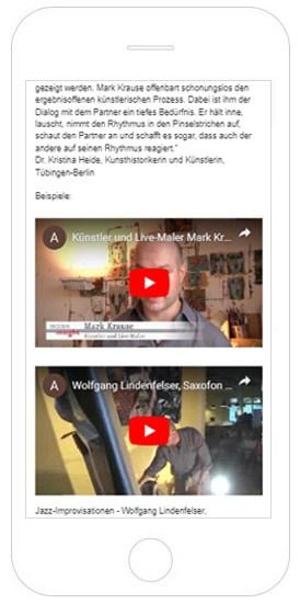 Mark Krause Live-Maler Referenz Smartphone, HTML Website erstellen lassen, Webdesign Tübingen