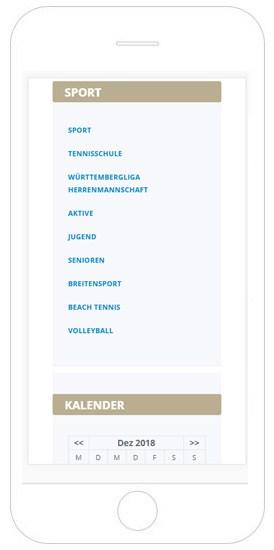 TCM Reutlingen Referenz Smartphone, WordPress Reutlingen, Webdesign Reutlingen