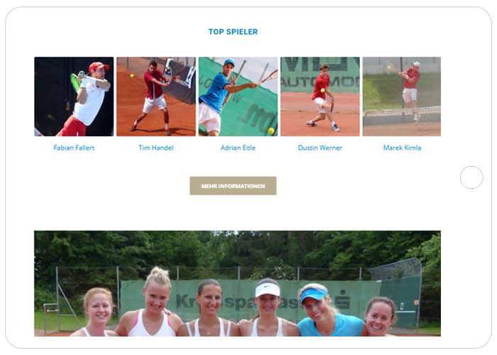 Tennis-Club Markwasen Referenz Tablet, WordPress Reutlingen, Webdesign Reutlingen