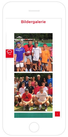 Tennisschule Marek Kimla Referenz Smartphone, WordPress Webdesign