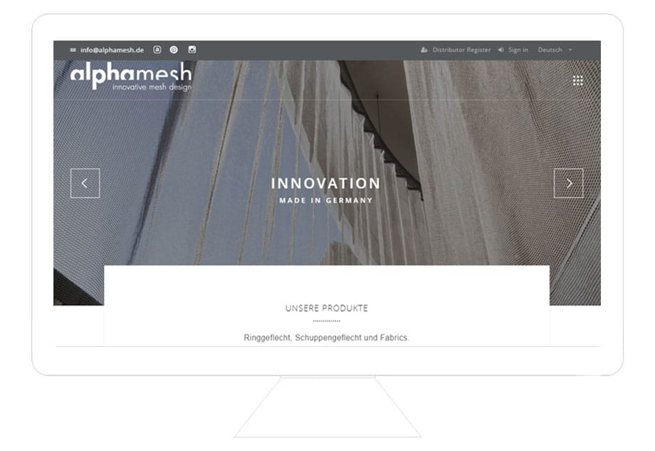 alphamesh WordPress Referenz Desktop, WordPress Programmierer