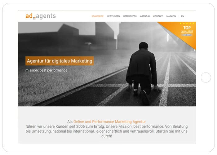 Wordpress Support Freelancer: ad agents GmbH