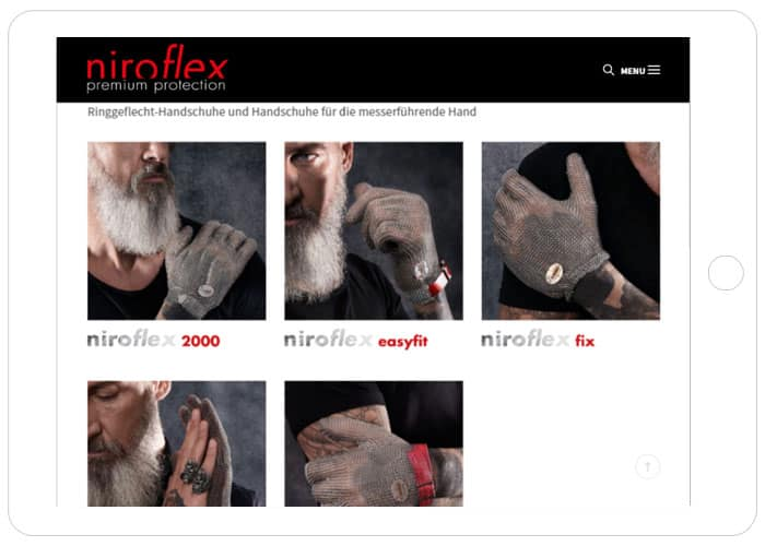 niroflex WordPress Referenz Tablet, WordPress Programmierer