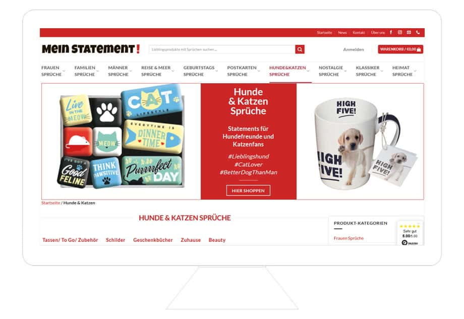 Mein-Statement Onlineshop Referenz Dektop