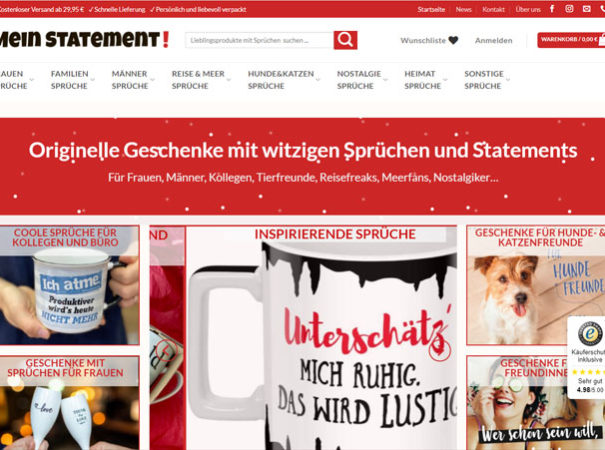 Milena Paralis Referenz WooCommerce Onlineshop Mein-Statement