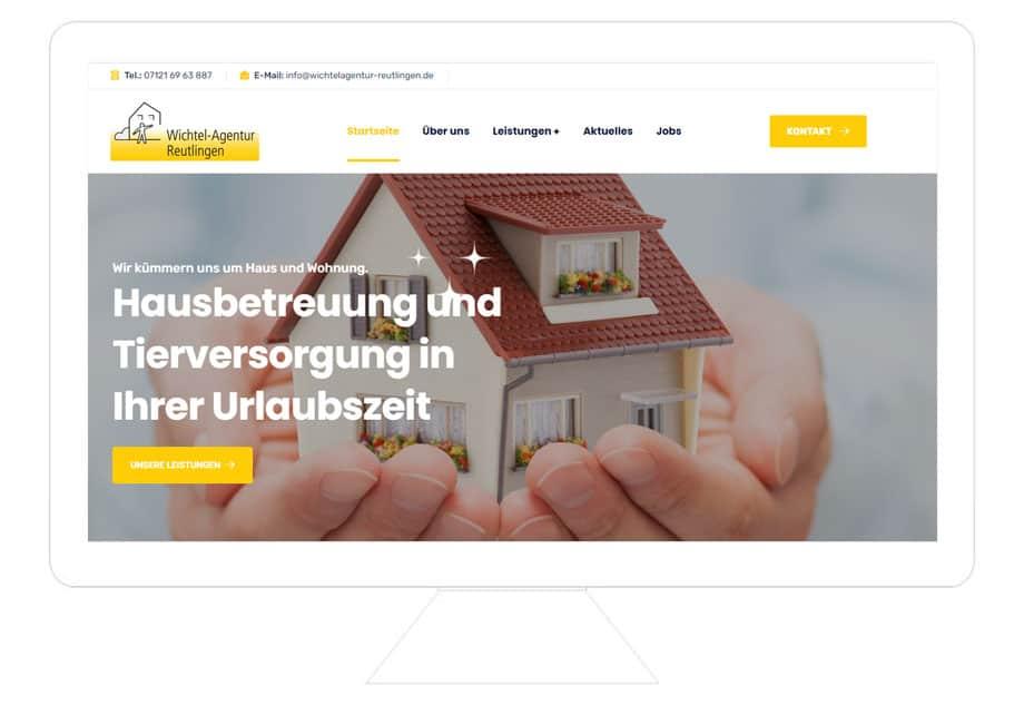 Wichtelagentur Reutlingen Referenz Desktop, website erstellen lassen freelancer